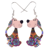 Flower Dog Earrings