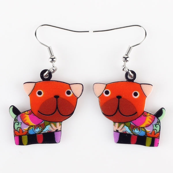 Drop Dog Earrings