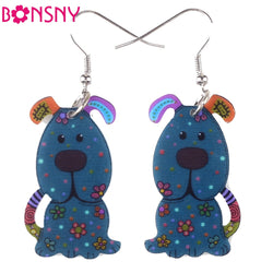Acrylic Dog Earrings
