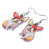 French Bulldog Dress Earrings