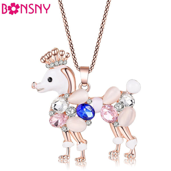 Crown Poodle Necklace