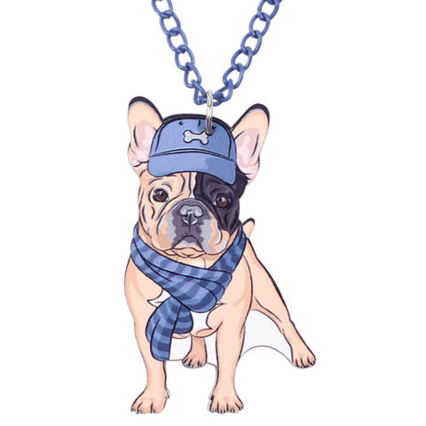 French Bulldog Acrylic Necklace