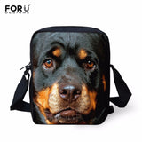 3D Rottweiler Messenger Bag