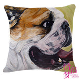 English Bulldog Decorative Pillow Case