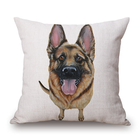 German Shepherd Throw Pillow Case