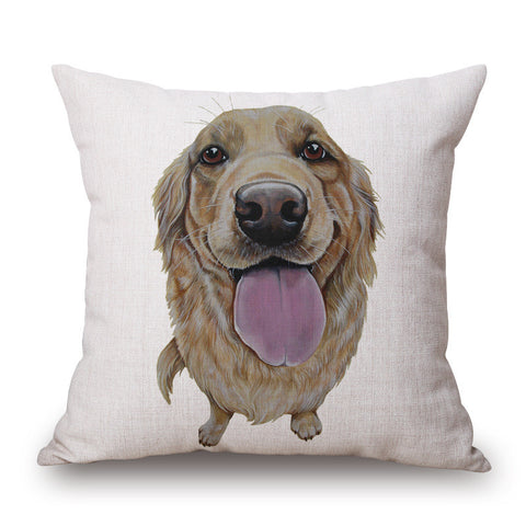 Golden Retriever Throw Pillow Case
