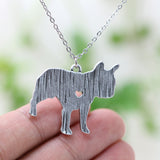 French Bulldog Charm With Chain
