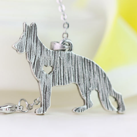 German Shepherd Charm with Chain
