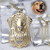 Golden Retriever Charm With Chain
