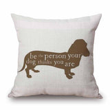 Dachshund Sketch Sofa Cushion Cover