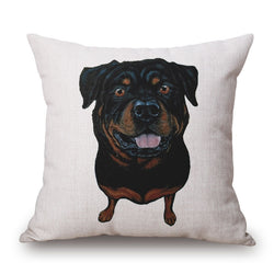 Rottweiler Throw Pillow Case