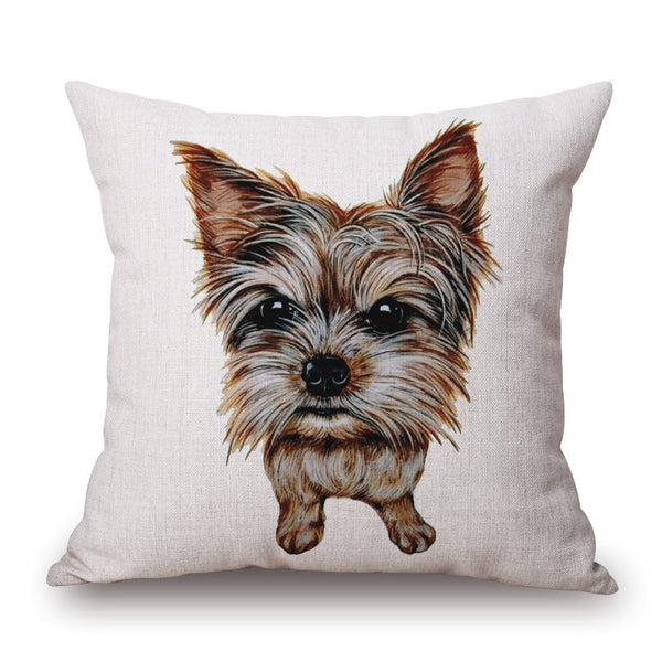 Yorkshire Terrier Throw Pillow Case