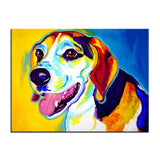 Beagle Print Oil Painting