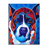 Boxer Wanting to Play Print Oil Painting