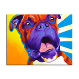 Surprised Boxer Print Oil Painting