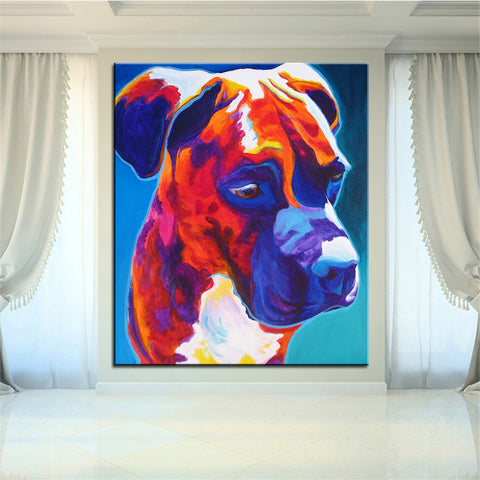 Sad Boxer Print Oil Painting