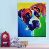Boxer Giving the Look Print Oil Painting