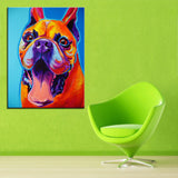 Happy Boxer Print Oil Painting