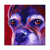 Large Boxer Oil Painting