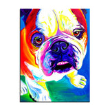 Sweet English Bulldog Print Oil Painting