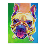 Smiling French Bulldog Print Oil Painting