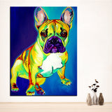 French Bulldog Print Oil Painting