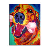 Large Golden Retriever Print Oil Painting
