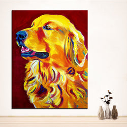 Proud Golden Retriever Print Oil Painting