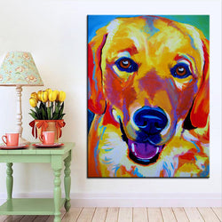 Large Size Golden Retriever Print Oil Painting