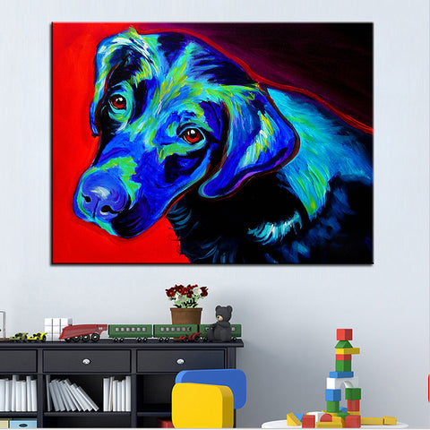 Labrador Retriever Print Oil Painting