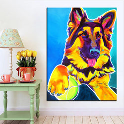 German ShepherdPrint Oil Painting