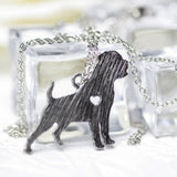 Rottweiler Charm with Chain