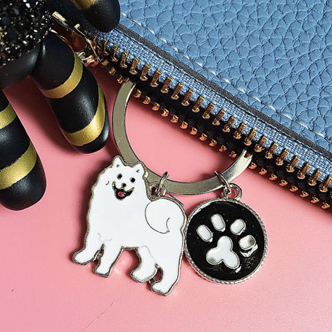Samoyed Key Chain