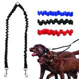 Double Dog Elastic Walking Lead