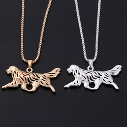 Running Golden Retriever Charm with Chain