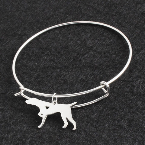 Silver German Shorthaired Pointer Bracelet