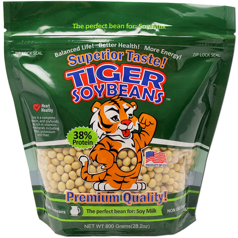 Tiger Soybeans Premium Certified Non-GMO Whole Soybeans for Soy Milk Grown in USA