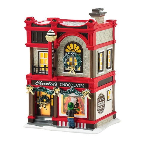 Department 56 Snow Village Christmas Sweets Porcelain Lit House