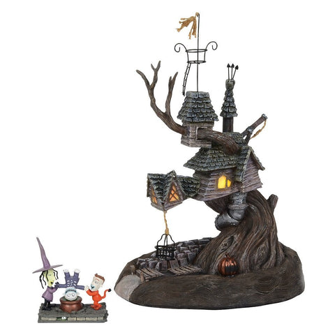 Department 56 Nightmare Before Christmas Lock, Shock and Barrel Treehouse