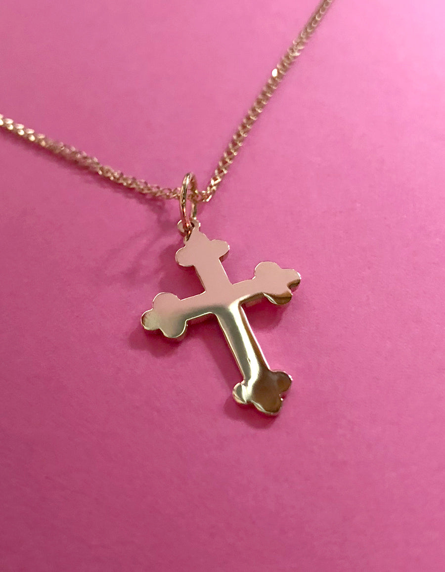 14K Capulet Cross Necklace