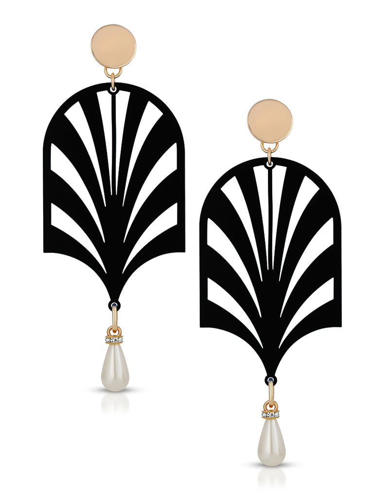 Art Deco Drip Earrings