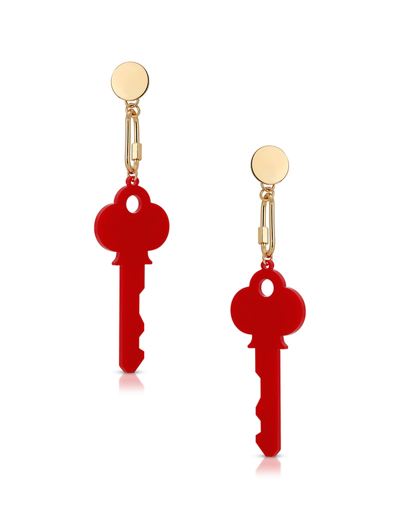 Motel Key Earrings