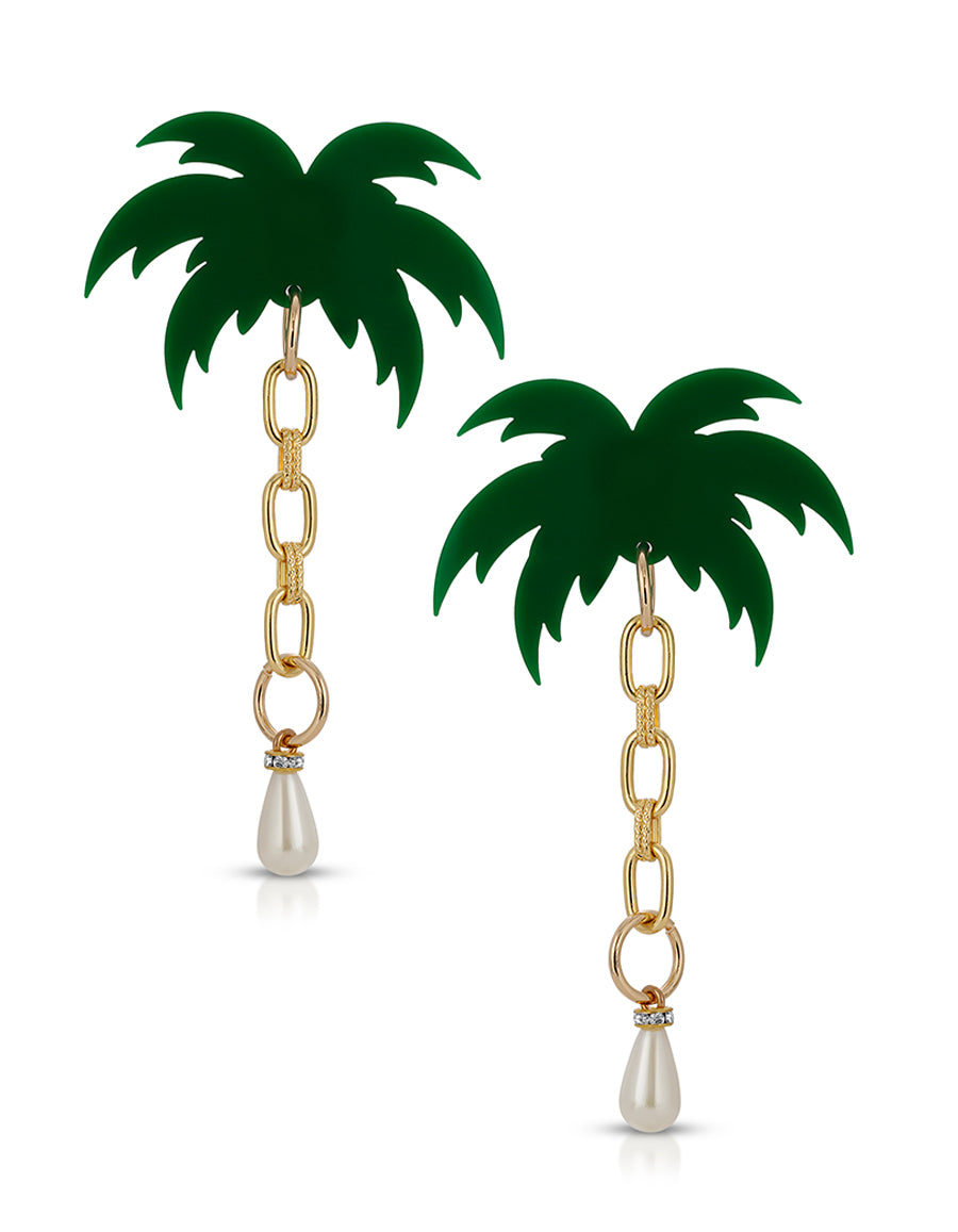 Palm Pearls Earrings