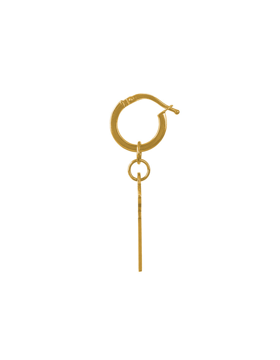 14K Key to Paradise Hoop