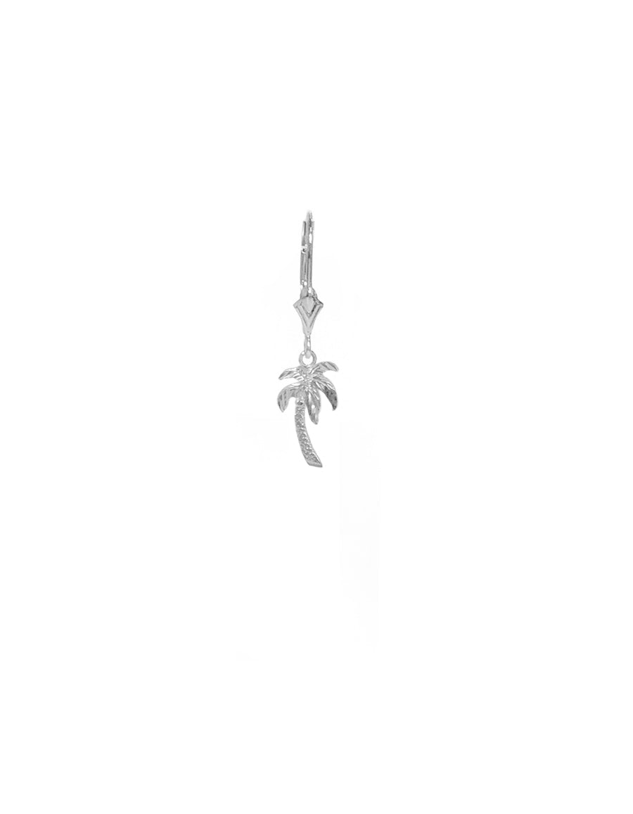 14K Molded Palm Tree Earring