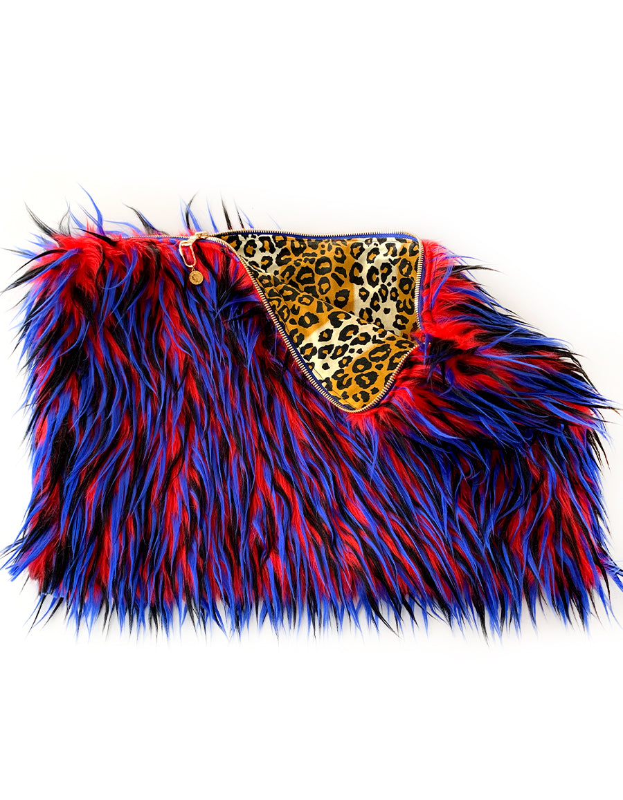 BIANCA FUR CLUTCH