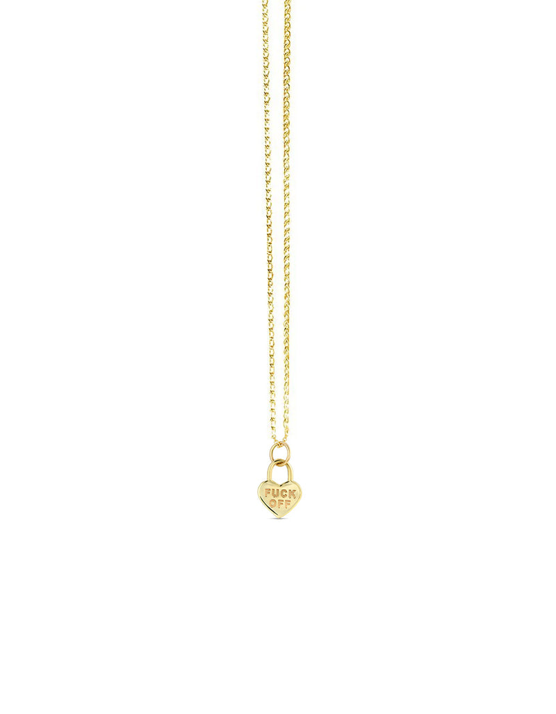 14K Love Lockdown Pendant Necklace