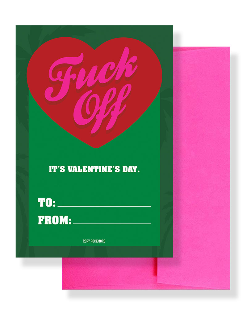 'Fuck Off' Valentines — 6 Pack