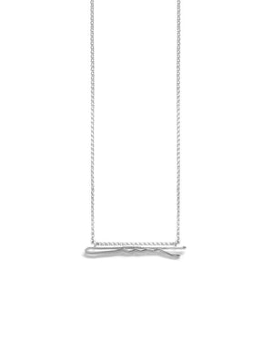 14K Bobby Pin Necklace