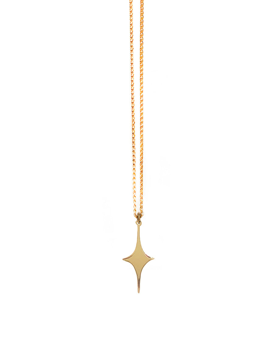 14K Spark Pendant Necklace